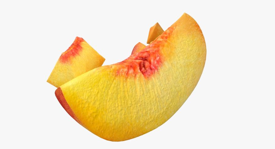 Peach Slice royalty-free 3d model - Preview no. 7