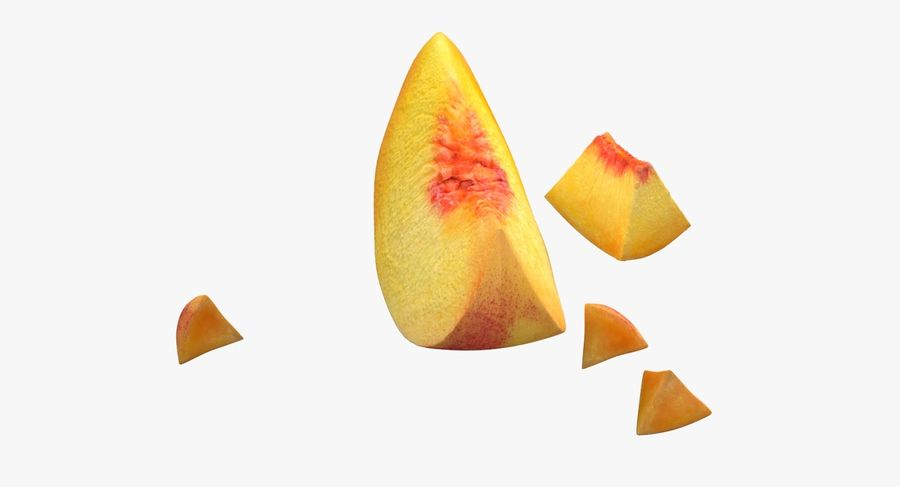 Peach Slice royalty-free 3d model - Preview no. 6