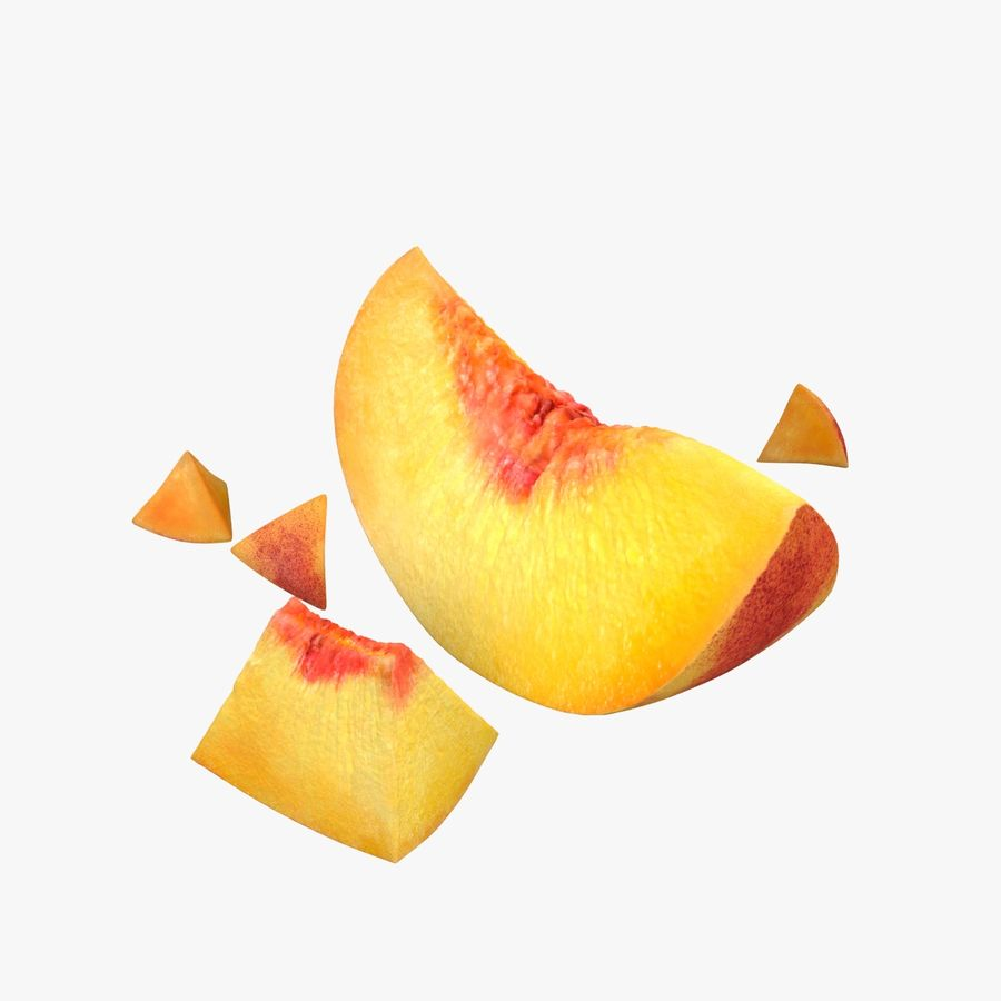 Peach Slice royalty-free 3d model - Preview no. 1