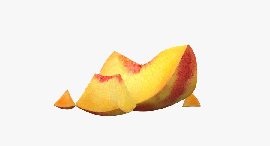 Peach Slice royalty-free 3d model - Preview no. 4