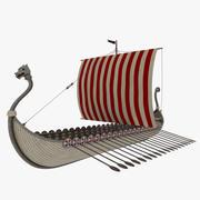 Bateau viking 3d model
