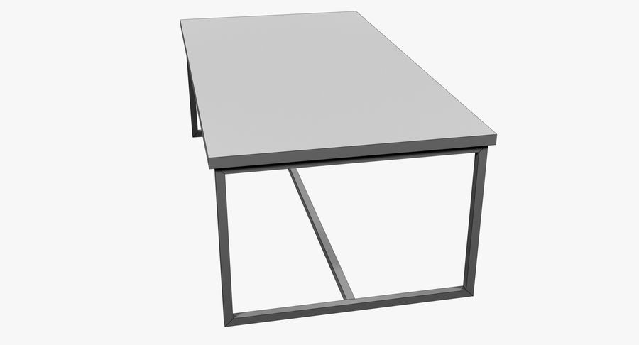 Mesa de comedor minimalista royalty-free modelo 3d - Preview no. 12