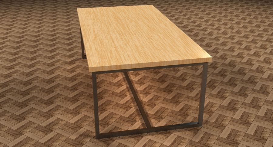Mesa de comedor minimalista royalty-free modelo 3d - Preview no. 16
