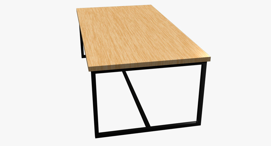 Mesa de comedor minimalista royalty-free modelo 3d - Preview no. 7