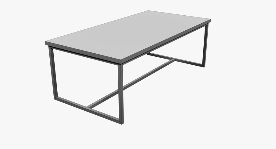Mesa de comedor minimalista royalty-free modelo 3d - Preview no. 9