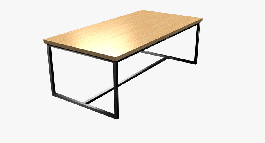 Mesa de comedor minimalista royalty-free modelo 3d - Preview no. 4