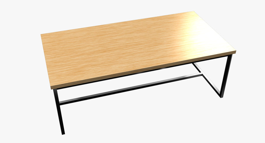 Mesa de comedor minimalista royalty-free modelo 3d - Preview no. 2