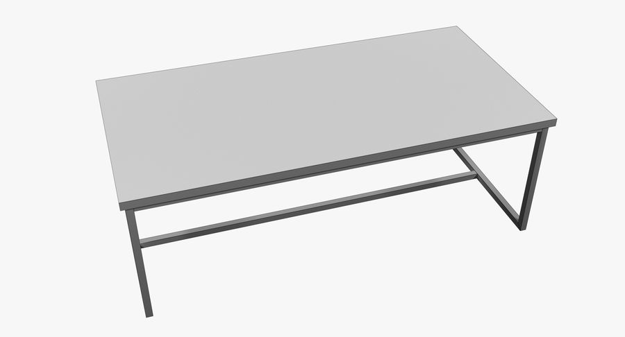 Mesa de comedor minimalista royalty-free modelo 3d - Preview no. 8