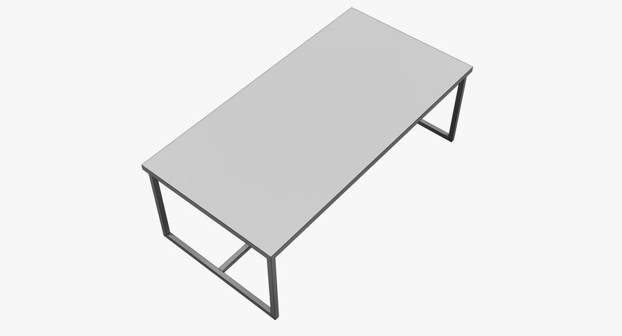 Mesa de comedor minimalista royalty-free modelo 3d - Preview no. 10