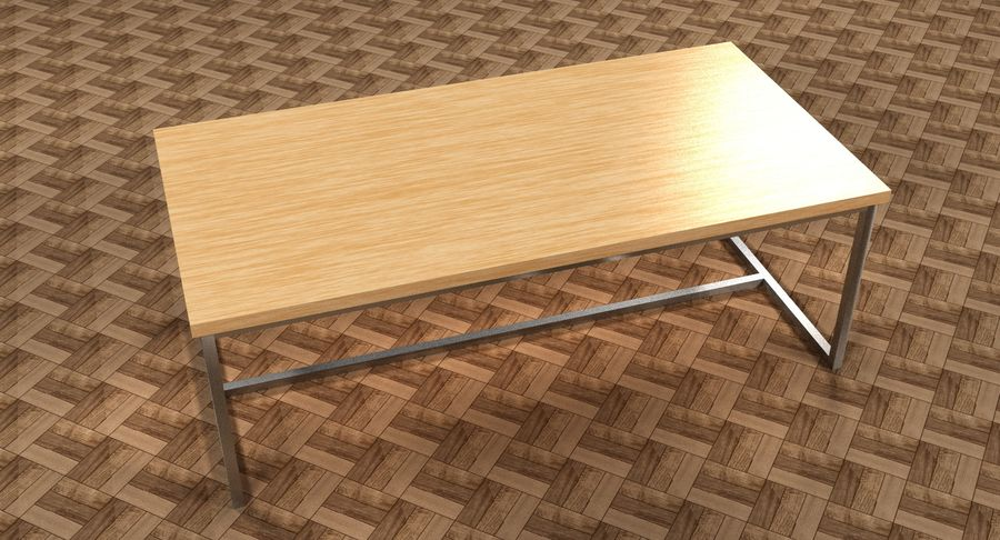Mesa de comedor minimalista royalty-free modelo 3d - Preview no. 3
