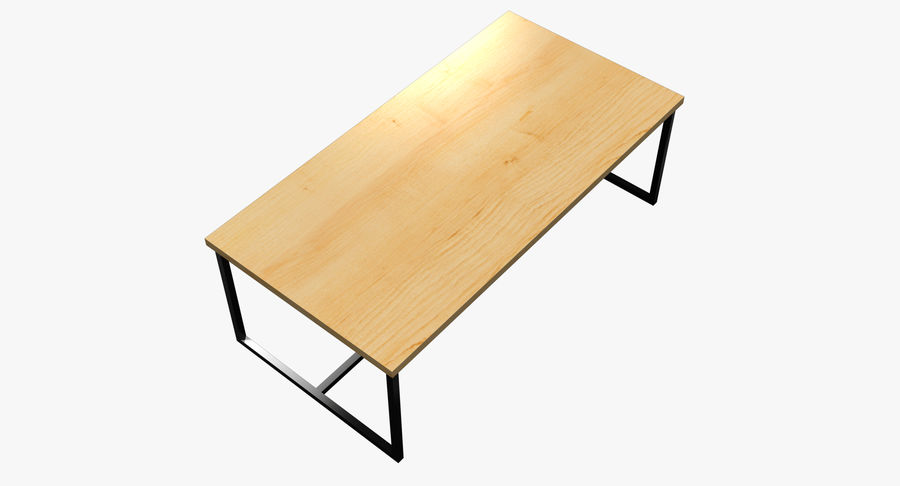Mesa de comedor minimalista royalty-free modelo 3d - Preview no. 14