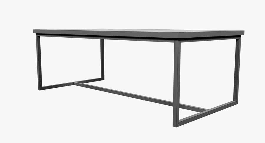 Mesa de comedor minimalista royalty-free modelo 3d - Preview no. 11