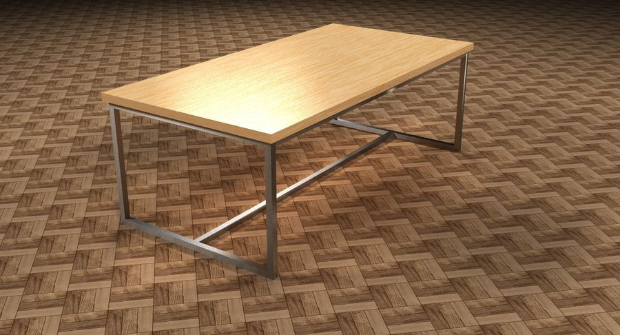 Mesa de comedor minimalista royalty-free modelo 3d - Preview no. 13