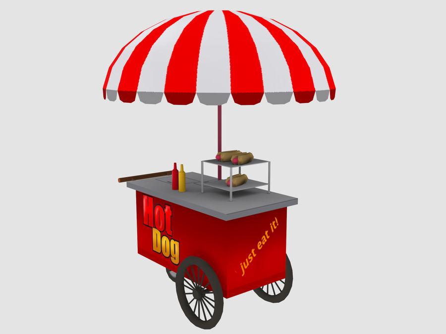 Cartoon Food Carts royalty-free 3d model - Preview no. 14