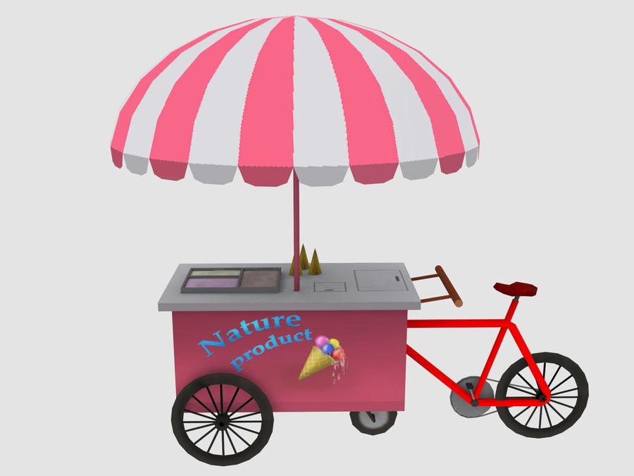 Cartoon Food Carts royalty-free 3d model - Preview no. 5