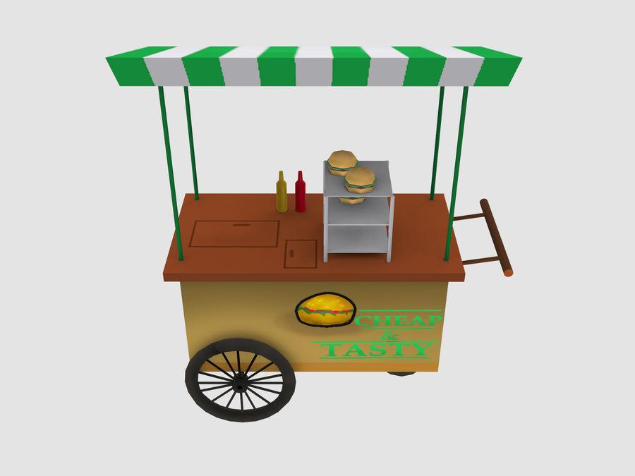 Cartoon Food Carts royalty-free 3d model - Preview no. 20