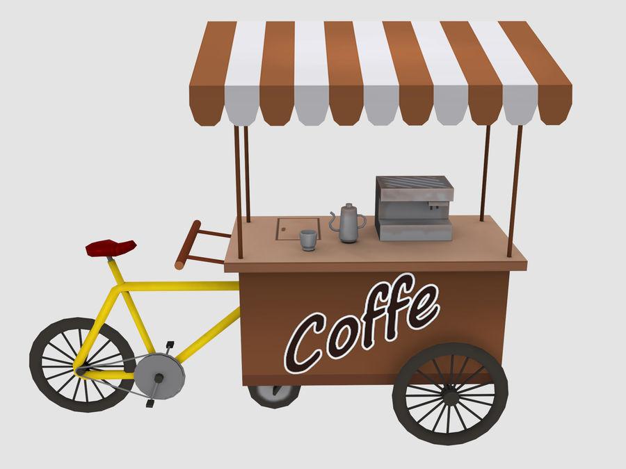 Cartoon Food Carts royalty-free 3d model - Preview no. 8