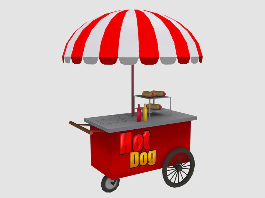 Cartoon Food Carts royalty-free 3d model - Preview no. 12