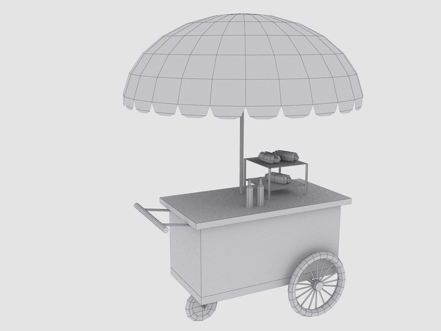 Cartoon Food Carts royalty-free 3d model - Preview no. 16