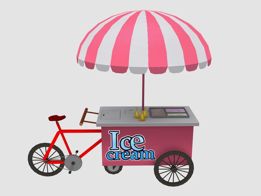 Cartoon Food Carts royalty-free 3d model - Preview no. 3