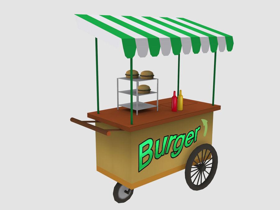 Cartoon Food Carts royalty-free 3d model - Preview no. 17