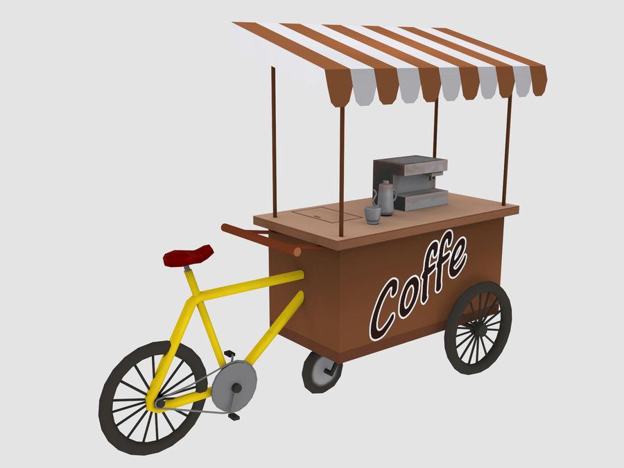Cartoon Food Carts royalty-free 3d model - Preview no. 7