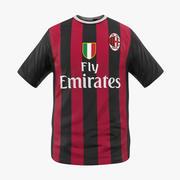 Camiseta de fútbol Milan 2 modelo 3d
