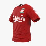 Camiseta de fútbol Liverpool 2 modelo 3d