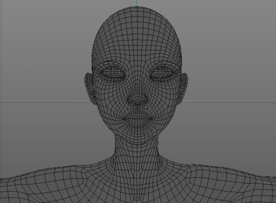 nude girl base mesh royalty-free 3d model - Preview no. 25