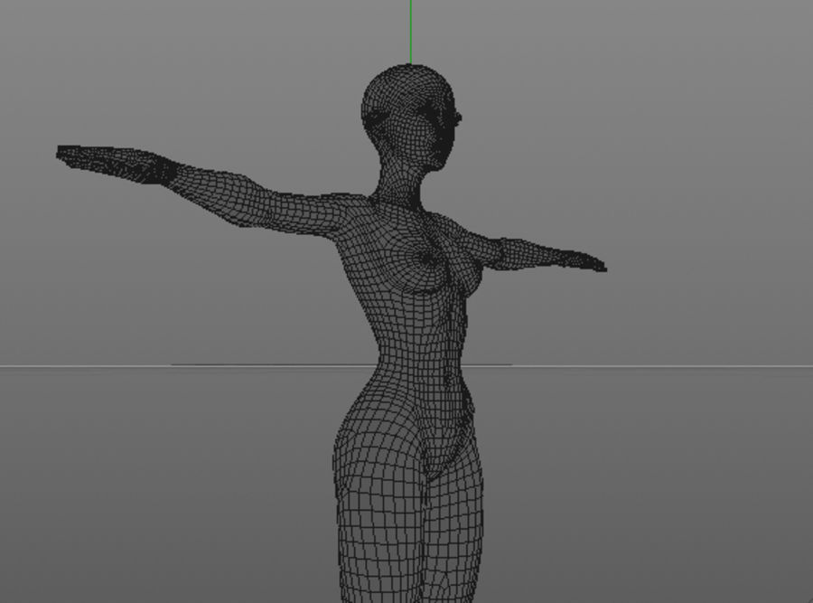 nude girl base mesh royalty-free 3d model - Preview no. 27