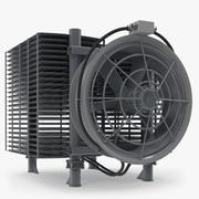 Radiateur industriel avec ventilateur 3d model