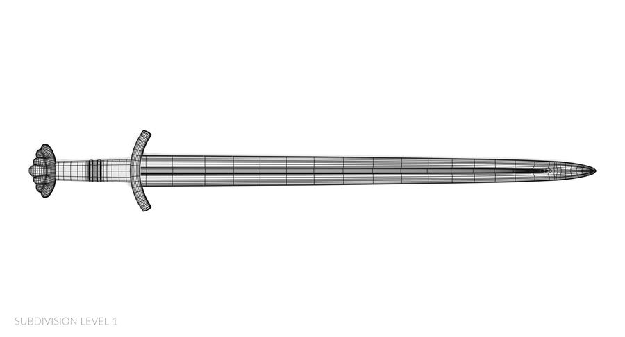 Viking Sword royalty-free 3d model - Preview no. 11