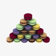 Fransızca Macarons 3d model
