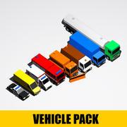 漫画の乗り物-トラックとサービス 3d model