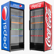 펩시와 콜라 디스플레이 냉장고 3d model