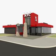 KFC 현대식 레스토랑 드라이브 3d model