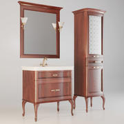 Conjunto clásico de muebles de baño modelo 3d
