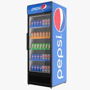 Fylld Pepsi-kylskåp med en enda dörr 3d model