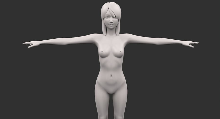 Beautiful Girl royalty-free 3d model - Preview no. 8