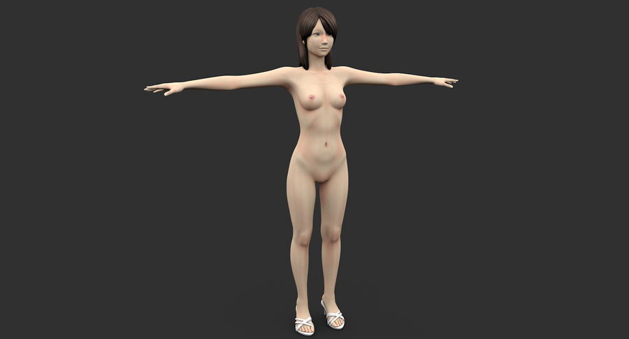 Beautiful Girl royalty-free 3d model - Preview no. 4