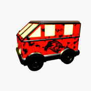 Cartoon Retro-Lieferwagen 3d model