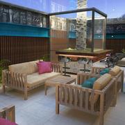 Restaurant Bar lounge 3d model