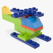 Toy Copter Blocks Generic 3D Model 3d model