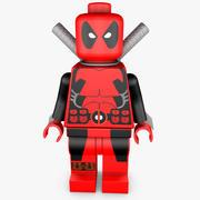 Lego Deadpool (RIGGED) 3d model