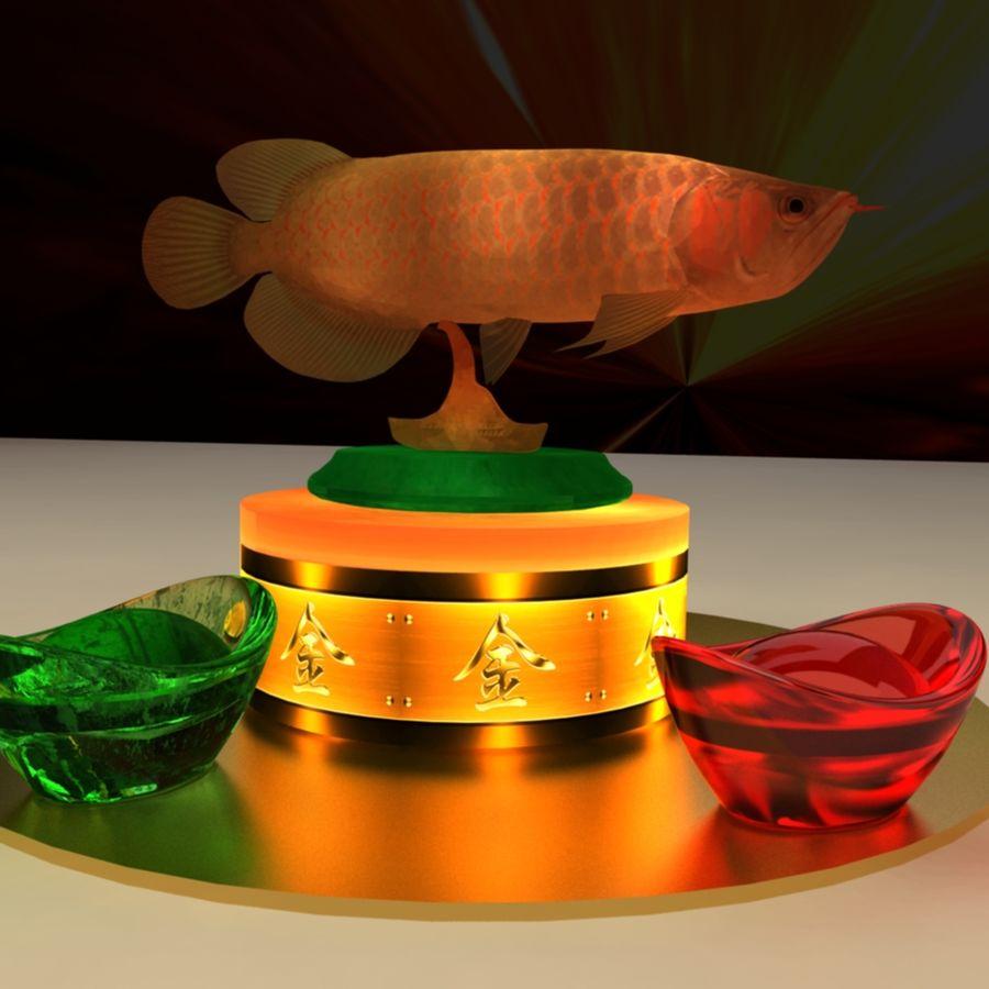 中国の金の魚 royalty-free 3d model - Preview no. 1