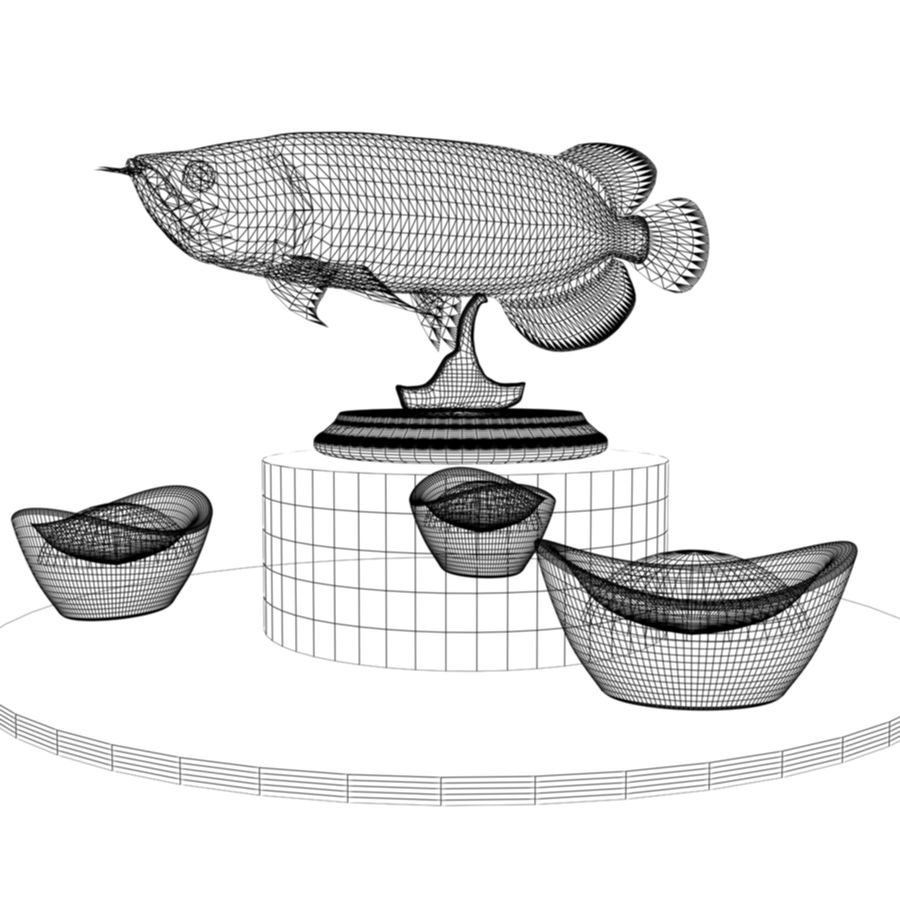 中国の金の魚 royalty-free 3d model - Preview no. 6