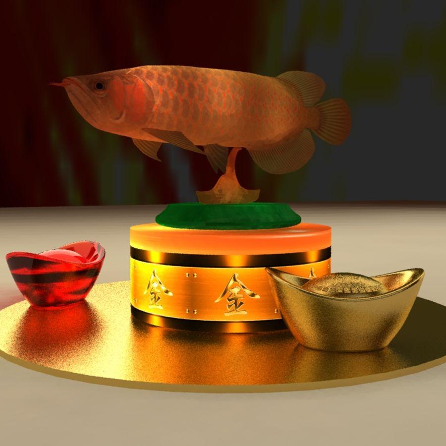 中国の金の魚 royalty-free 3d model - Preview no. 3