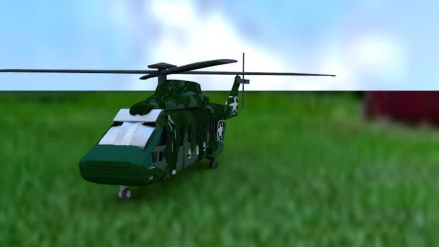 Helicopter royalty-free 3d model - Preview no. 3