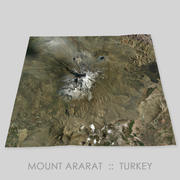 Mount Ararat Area Terrain 3d model