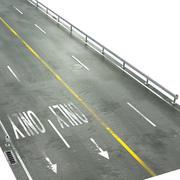 Straße und Barriere 3d model